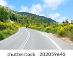 Asphalt Road Winding Through...