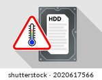 hard disk drive and warning... | Shutterstock .eps vector #2020617566