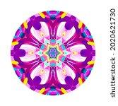 colorful mandala on white... | Shutterstock . vector #2020621730