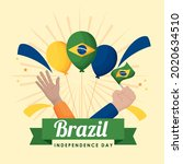 happy brazil independence day... | Shutterstock .eps vector #2020634510