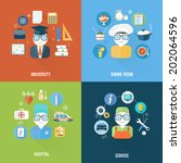 service  university  hospital... | Shutterstock .eps vector #202064596