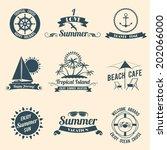 summer sea retro vacation... | Shutterstock .eps vector #202066000