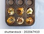 freshly baked paleo muffins in... | Shutterstock . vector #202067410