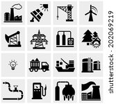 energy production vector icons... | Shutterstock .eps vector #202069219