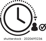 real time icon vector. present...   Shutterstock .eps vector #2020695236