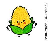 Cute Funny Corn Character....