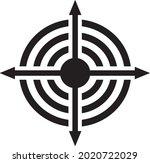 expand icon vector. big icon...   Shutterstock .eps vector #2020722029