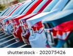 brand new cars in stock. car... | Shutterstock . vector #202075426