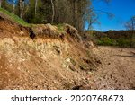 Outcrop Of Geological Rocks....