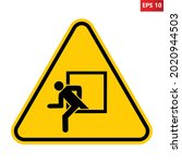 emergency window warning sign....   Shutterstock .eps vector #2020944503