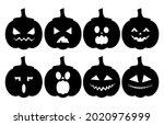 horrible scary pumpkins for...   Shutterstock .eps vector #2020976999