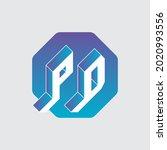 pd   monogram or logotype.... | Shutterstock .eps vector #2020993556