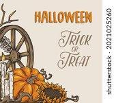halloween background for...   Shutterstock .eps vector #2021025260
