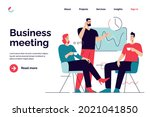 business concept flat style... | Shutterstock .eps vector #2021041850