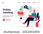 business concept flat style... | Shutterstock .eps vector #2021041853