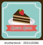 cake design over blue... | Shutterstock .eps vector #202110286