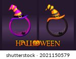 halloween frames with hat ...
