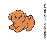 bichon frise puppy. cute dog... | Shutterstock .eps vector #2021182196