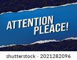 attention pleace concept vector ...