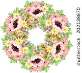 abstract flower background with ... | Shutterstock .eps vector #202138870