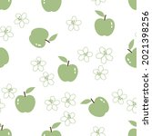 seamless pattern with green... | Shutterstock .eps vector #2021398256