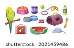 animal food  accessories and... | Shutterstock .eps vector #2021459486