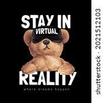 stay in reality slogan with... | Shutterstock .eps vector #2021512103