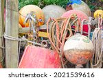 Buoys And Ropes Hanging Over...