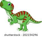 dinosaur iguanodon cartoon   Shutterstock .eps vector #202154296