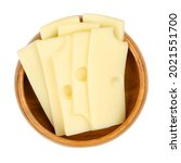 sliced emmental cheese  in a...   Shutterstock . vector #2021551700