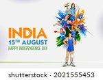 illustration of indian... | Shutterstock .eps vector #2021555453