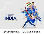 illustration of indian... | Shutterstock .eps vector #2021555456