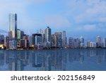 a shot of beautiful downtown...   Shutterstock . vector #202156849