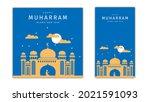 happy new hijri year islamic... | Shutterstock .eps vector #2021591093