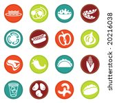 vector food icons set 8 | Shutterstock .eps vector #20216038