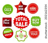 red and green summer sale... | Shutterstock .eps vector #202162354