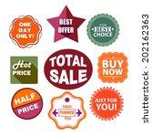 retro summer sale labels for... | Shutterstock .eps vector #202162363