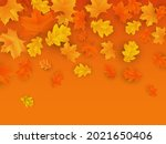 autumn background with maple...   Shutterstock .eps vector #2021650406
