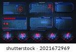 futuristic frame screens hud ...