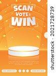 prize poster invitation contest ...   Shutterstock .eps vector #2021728739