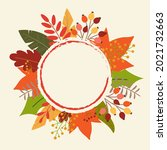 autumn or fall background with... | Shutterstock .eps vector #2021732663
