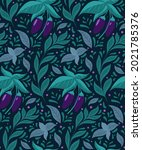 Seamless Pattern With Eggplants ...