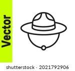black line canadian ranger hat... | Shutterstock .eps vector #2021792906