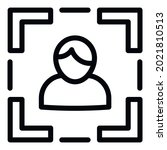 Camera autofocus icon. Outline camera autofocus vector icon for web design isolated on white background