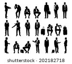 big set of black and white... | Shutterstock . vector #202182718