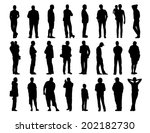 big set of black silhouettes of ... | Shutterstock . vector #202182730