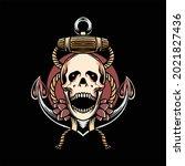 skull tattoo illustration...   Shutterstock .eps vector #2021827436