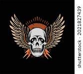 skull tattoo illustration...   Shutterstock .eps vector #2021827439