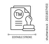 trademark linear icon.... | Shutterstock .eps vector #2021837453