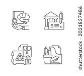 corporate intellectual property ... | Shutterstock .eps vector #2021837486